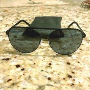 Quay oversized aviator sunglasses